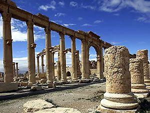 Fotoğraflarla Palmyra antik kenti