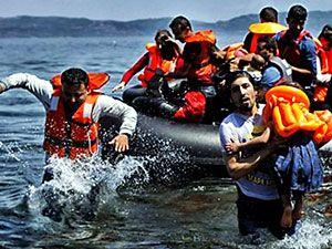 Fotoğraflarla hedefe ulaşan sığınmacıların sevinci