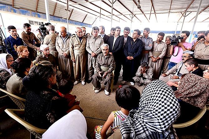 İran'la çatışmada hayatını kaybeden 6 KDP-İ Peşmergesi için taziye galerisi resim 24