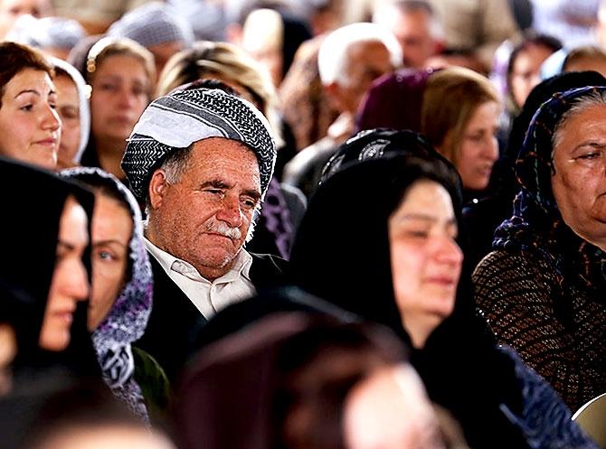 İran'la çatışmada hayatını kaybeden 6 KDP-İ Peşmergesi için taziye galerisi resim 5