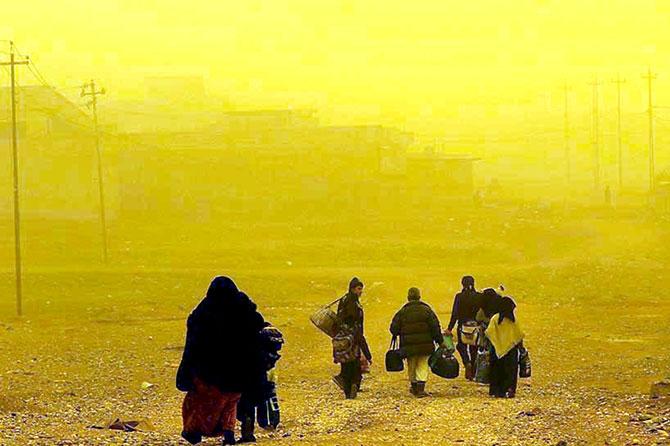 Kum fırtınasına rağmen Musul'dan kaçış galerisi resim 19