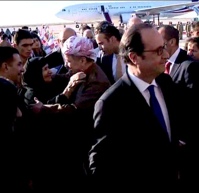 Fransa Cumhurbaşkanı Hollande Hewler'de galerisi resim 4