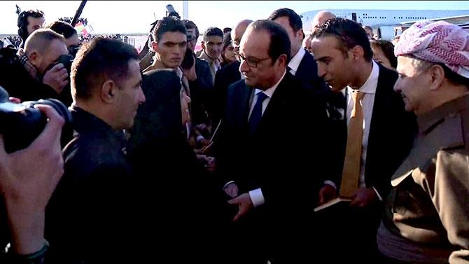 Fransa Cumhurbaşkanı Hollande Hewler'de galerisi resim 7