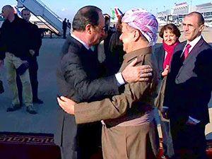 Fransa Cumhurbaşkanı Hollande Hewler'de