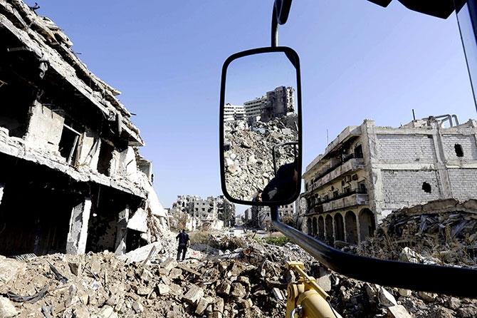 Suriye'nin Halep kentinden geriye kalanlar galerisi resim 14