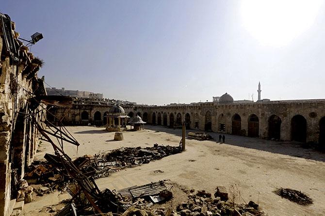 Suriye'nin Halep kentinden geriye kalanlar galerisi resim 2