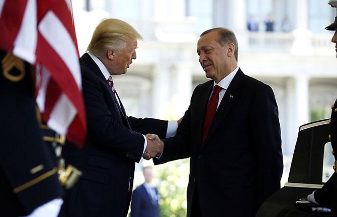 Reuters fotoğraflarıyla Trump-Erdoğan görüşmesi galerisi resim 1