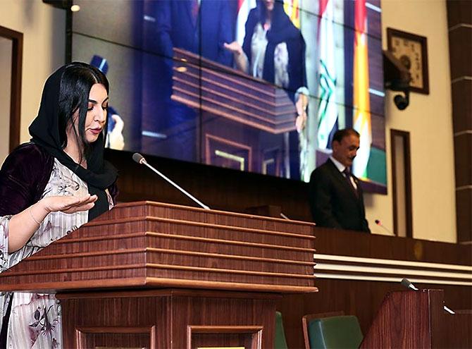 Kürdistan Parlamentosu'nun yeni üyeleri yemin etti galerisi resim 14