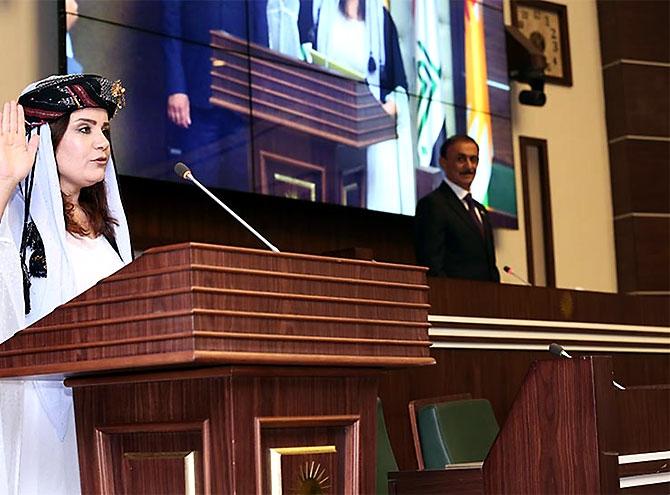 Kürdistan Parlamentosu'nun yeni üyeleri yemin etti galerisi resim 27