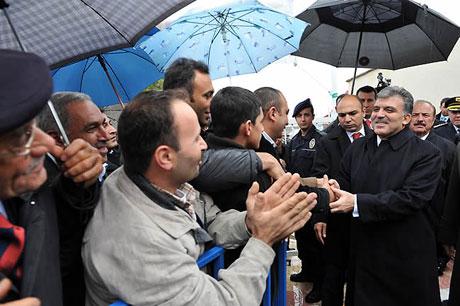 Cumhurbaşkanı Gül'e Tunceli'de Yoğun İlgi galerisi resim 3