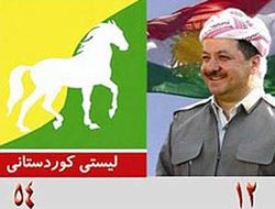 Barzani ve Talabani'nin amblemi kırat