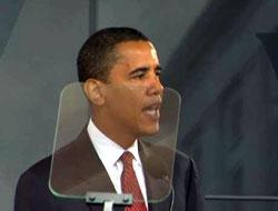Obama prompter'ın azizliğine uğradı
