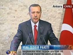 Başbakan teşvik paketini açıklıyor