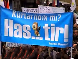 Kıbrıs'ta küfürlü pankart!
