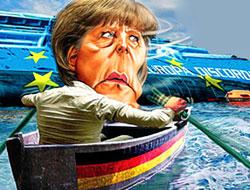 Merkel gemiyi terk etti!