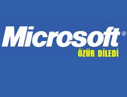 Microsoft Özür Diledi