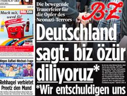Alman basınından Türkçe özür