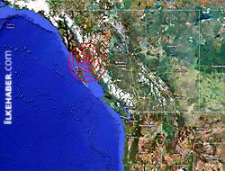 Kanada açıklarında büyük deprem!