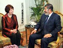 Mursi, ilk defa uluslararası bir yetkiliyle görüştü