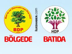 Bölgede BDP, batıda HDP...