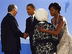 Erdoğanları Obama çifti karşıladı