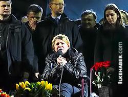 Timoşenko Bağımsızlık Meydanı'nda konuştu