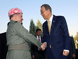 Barzani Hewlêr'de Ban Ki-mun ile görüştü