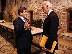 Joe Biden ile Davutoğlu görüşmesi 2,5 saat sürdü