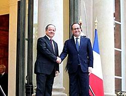 Barzani Hollande ile Elysee Sarayı'nda görüştü