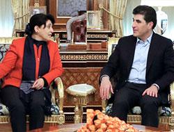 Zana ve Önder, Neçirvan Barzani ile görüştü