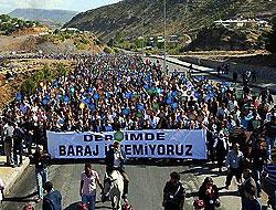 20 bin kişi Munzur'a yapılan barajlara 'dur' dedi