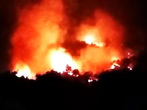 Diyarbakır'ın Lice ve Kulp İlçeleri'nde eş zamanlı yangın