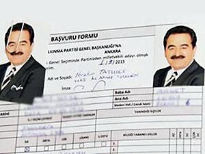 İbrahim Tatlıses, AK Parti'den aday adaylığı başvurusu yaptı