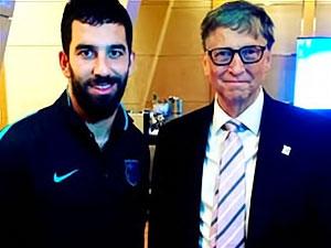 Arda Turan, Bill Gates ile buluştu