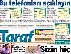 Taraf'dan NTV'yi delirtecek manşet!
