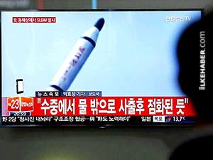Kuzey Kore, Japon Denizi'ne balistik füze fırlattı