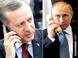 Erdoğan ve Putin'den Musul operasyonu görüşmesi
