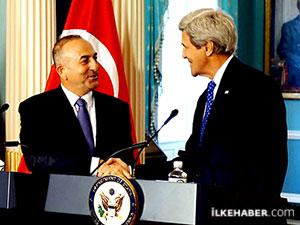 Çavuşoğlu ve Kerry 'İstanbul'dan ayrılın' uyarısını konuştu