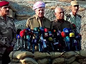Barzani cephe'de açıklama yaptı: Bugün tarihi bir gün