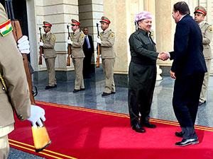 Mesud Barzani, İsveç Başbakanı ile görüştü