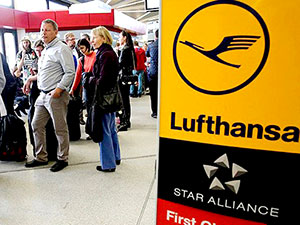 Lufthansa'da grev: 876 uçuş iptal edildi