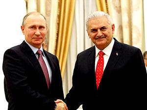 Putin ve Yıldırım, Kremlin'de görüştü