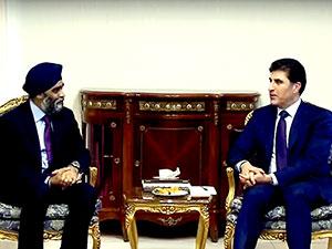 Kanada Savunma Bakanı Hewler'de