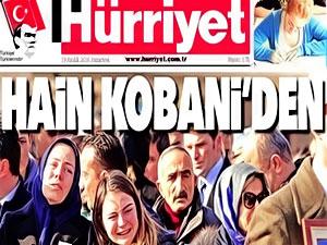 """Hürriyet: """"Bombacı Kobani'den"""" haberi vahim bir hata"""