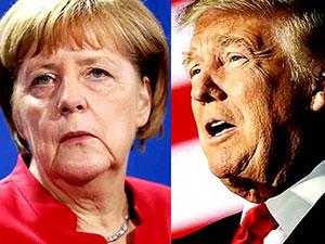 Merkel, Trump'a cevap verdi