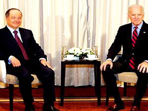 Mesut Barzani, Davos'ta Joe Biden ile görüştü