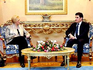 Neçirvan Barzani İtalya Savunma Bakanı ile görüştü