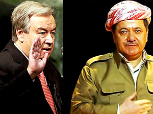 BM Genel Sekreteri'nden Barzani'ye mektup