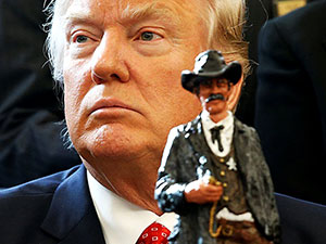 Trump, şerifleri Beyaz Saray'da ağırladı