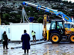 Çanakkale Ayvacık'ta 'konteyner kent' kuruluyor